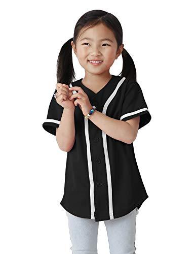 Ma Croix UP Kids Button Down Basebal Jersey Little League Tee Softball Shirt ()