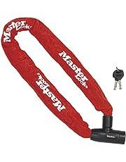 Master Lock 8 mm x 1000 mm Ketting met geïntegreerd sleutelslot - Khaki