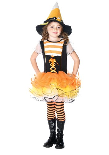 Girls Candyland Witch Kids Child Fancy Dress Party Halloween Costume, XS (3-4)