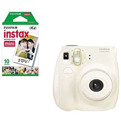1e51a9ed29a0 Image Unavailable. Image not available for. Color  Fujifilm Instax Mini 7s  White + 10 ...