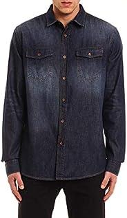 Camisa Jeans com lavagem, Colcci, Masculino