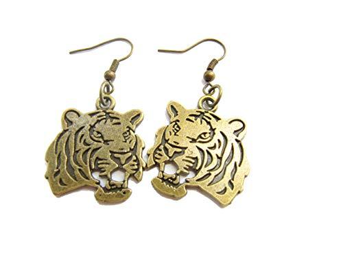tiger head earrings - 4