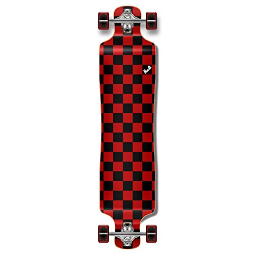 (Yocaher Blank/Checker Complete Lowrider Skateboards Longboard Cruiser Black Widow Premium 80A Grip Tape Aluminum Truck ABEC7 Bearing 70mm Skateboard Wheels (Complete - Lowrider - 10 - Checker Red))