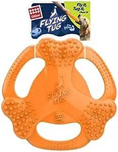 Gigwi Flying Tug Bone Toy for Dog, Orange