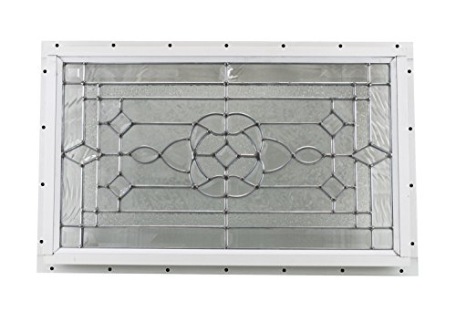 24'' x 14'' Decorative Cut Glass J-Channel Mount Shed Window by Shed Windows and More