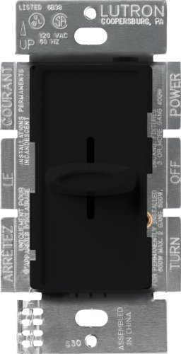 - Lutron Skylark Dimmer Switch for Incandescent and Halogen Bulbs, Single-Pole, S-600-BL, Black