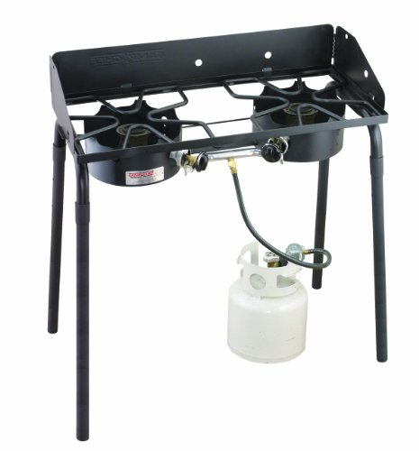 Camp Chef 2-Burner Stove ( 1 Low-Pressure, 1 High-Pressure), Outdoor Stuffs