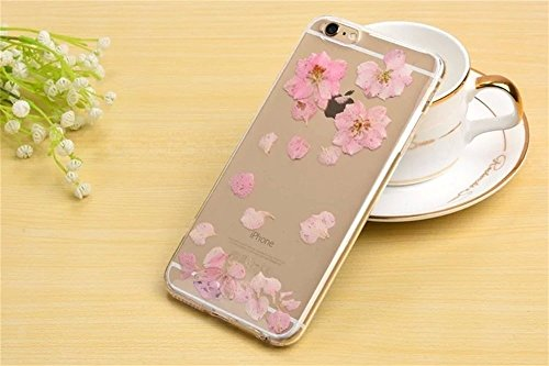 PowerQ Bunte Echt Blumen Probe Exemplar Serie Tasche TPU Hülle Etui Fall Case Cover < Pink flower petals floating | für IPhone6SPlus IPhone 6SPlus 6Plus IPhone6Plus >          Colorful Real Flower Specimen mit