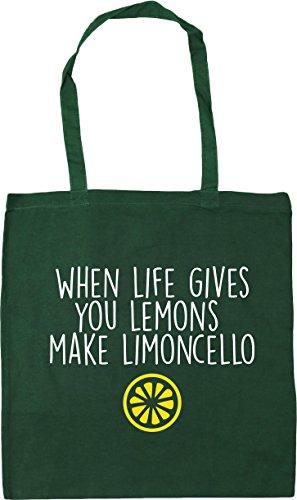 HippoWarehouse Beach You Bottle Green Gym 42cm Lemons When Bag Life x38cm 10 litres Tote Gives Limoncello Shopping Make rvSrqtxAnw