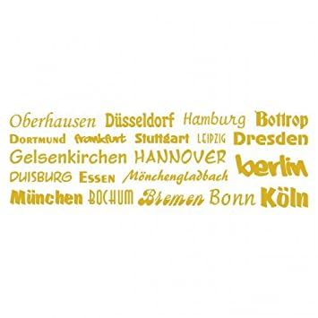 Wandtattoo Stadtenamen Deutschlands Creativ Set In 5 Grossen Und 19