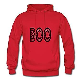 Popular Designed Red Women Boo2 Printed Hoodies X-large