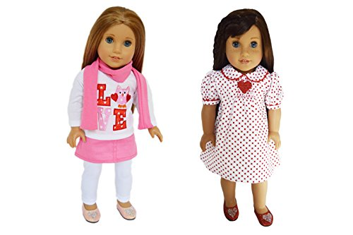 My Brittany's Valentines Day Outfits for American Girl Dolls- 18 Inch Doll Clothes