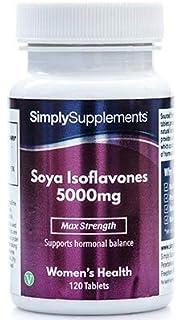 Isoflavonas de Soja 5000mg - 120 comprimidos - 4 meses de suministro - Menopausia y equilibrio