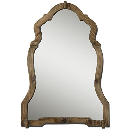Feyock Grace Collection (Uttermost 07632 Agustin Light Walnut Mirror, Brown)