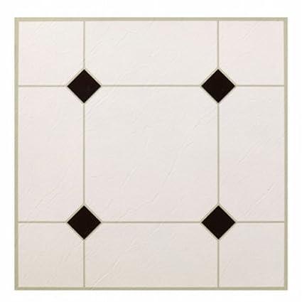 Max Kd0309 5th Avenue Black White Peel Stick Vinyl Floor Tile