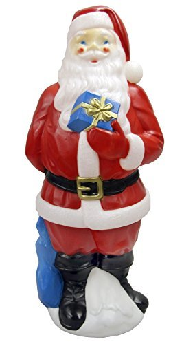 Outdoor Lighted Christmas Santa Reindeer Decoration - 4