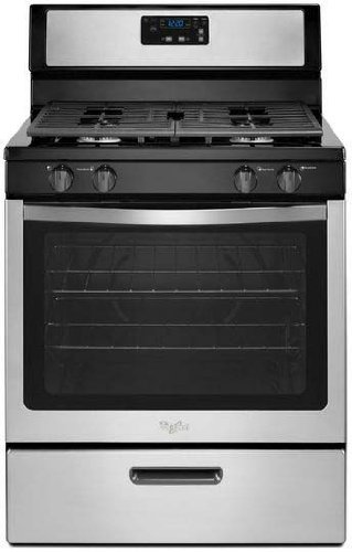 Whirlpool Freestanding Range (Whirlpool 30-inch Freestanding Gas Range with Broiler Drawer Stainless Steel)