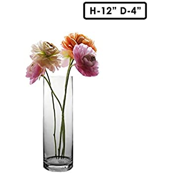 Amazon Candles4less 4 X 12 Clear Glass Cylinder Vase Home