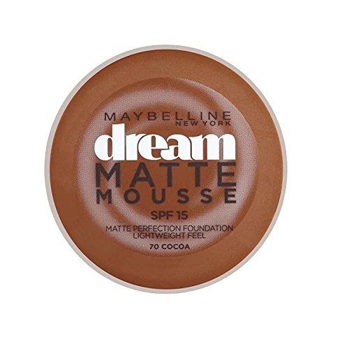 メイベリン夢のマットムース基盤70ココア10ミリリットル x4 - Maybelline Dream Matte Mousse Foundation 70 Cocoa 10ml (Pack of 4) [並行輸入品] B072P36D3C