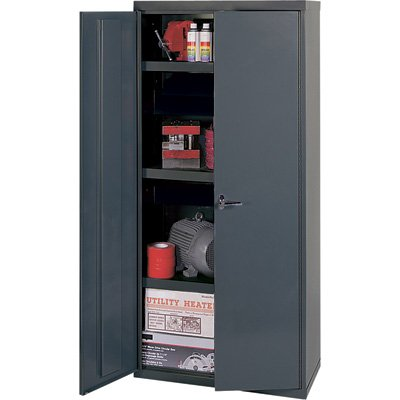 Edsal Welded Vault Cabinet - 36in.W x 18in.D x 60in.H, Model# VC1501G