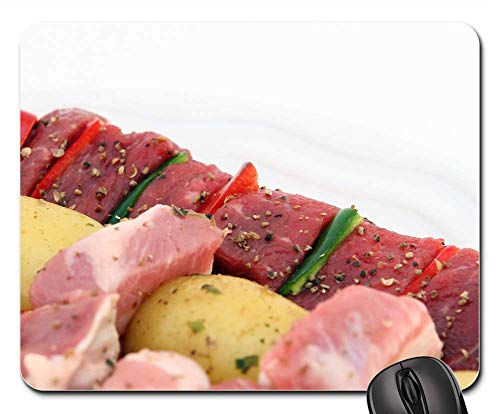 Mouse Pad - Barbeque BBQ Beef Cholesterol Close Up Colorful 2