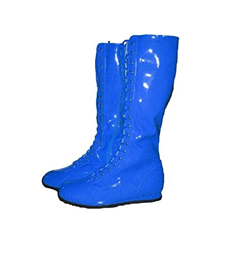 Pro Wrestling Costume Boots (Medium Blue)