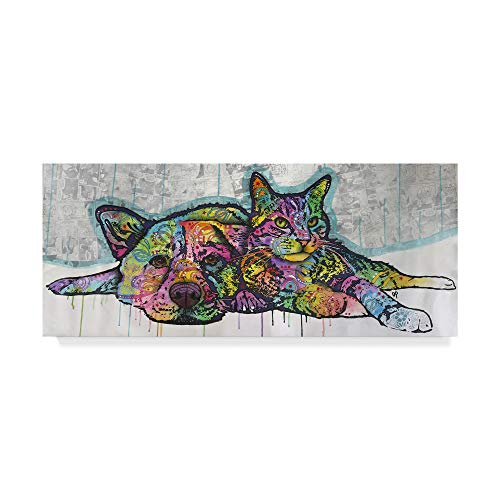 - Trademark Fine Art Cat and Dog Companions by Dean Russo, 14x32