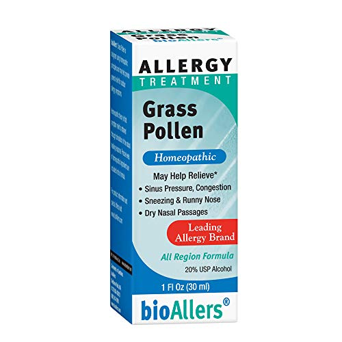 bioAllers Grass Pollen Homeopathic Allergy Treatment for Congestion, Sneezing, Runny Nose & Itchy, Watery Eyes | 1 Fl Oz