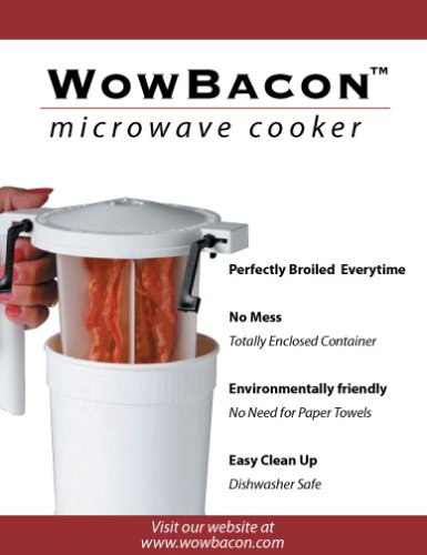 WowBacon microwave cooker- Twin Pak - The ONLY totally enclosed cooker on the market - No splatter - No need for paper towels - eco friendly