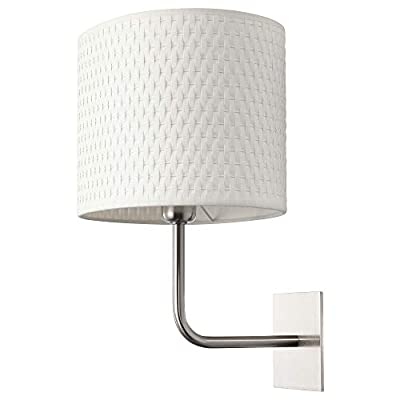 Ikea Alang Wall Lamp with Bulb, Nickel Plated, White