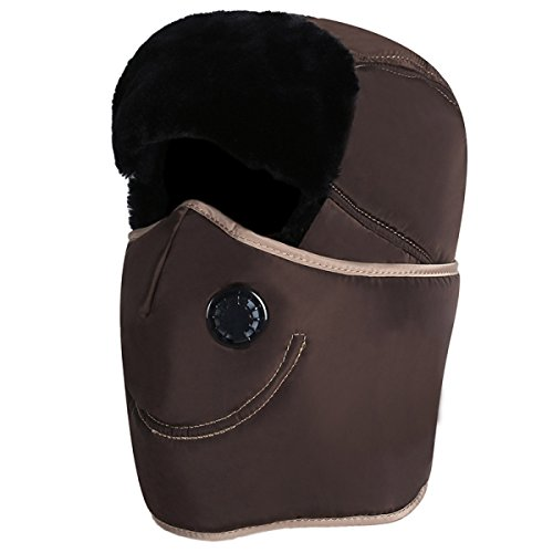 Brown Hiking El De A Bomber Prueba Unisex Para Warm Patinaje Ushanka Ear De Winter Flap Mens Viento Máscara SOOCO Winter Hat Esquí 1x4g4R