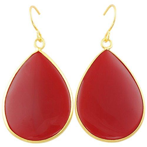 Fabulous Gold Red Stone Earrings: Amazon.com TW19