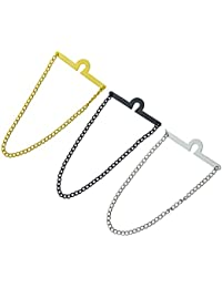 Men's Tie Chain Fashion Necktie Link Noble Necktie Chains for Business Wedding Pack of 3