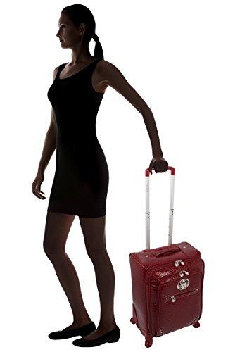Kathy Van Zeeland Croco PVC Luggage Set 4 Piece Expandable Suitcase with Spinner Wheels (One Size, Burgendy) by Kathy Van Zeeland (Image #6)