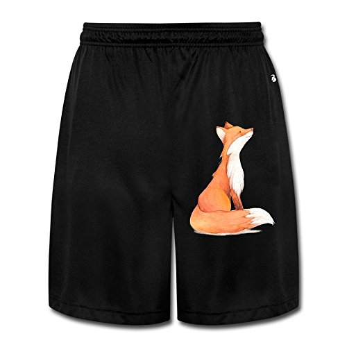 Fox Painting Men's Short Pants Yoga Sweatpants Performance Shorts Workout Sweatpants Gym Sweatpants M (Fox News The Five Halloween Costumes)