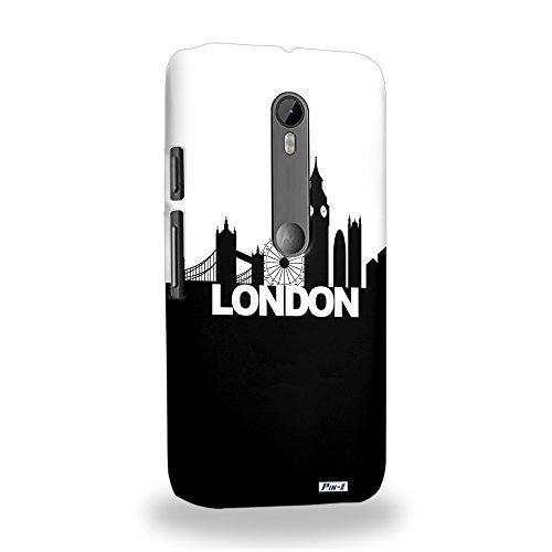 Pin-1 [Motorola Moto G (3rd gen)] 3D Printed Snap-on Hard Case & Warranty Card - Art Fashion London Skyline - D&g London