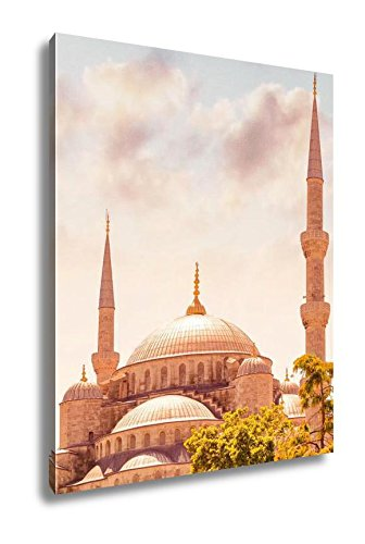 Sultan Mosque Ahmed (Ashley Canvas Blue Mosque Istanbul Sultan Ahmed Mosque Famous Religious, Home Office, Ready to Hang, Color 25x20, AG5408980)