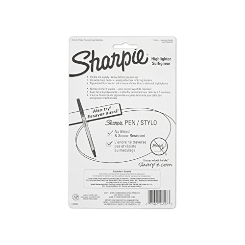 Sharpie 24527PP Accent Sharpie Pen-Style Highlighter, Yellow, 5-Pack Photo #5