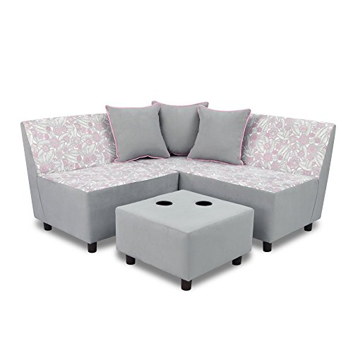 Kangaroo Trading Tween Sectional (6 Pieces) Tribal Bubblegum Pebbles Childrens Sofas
