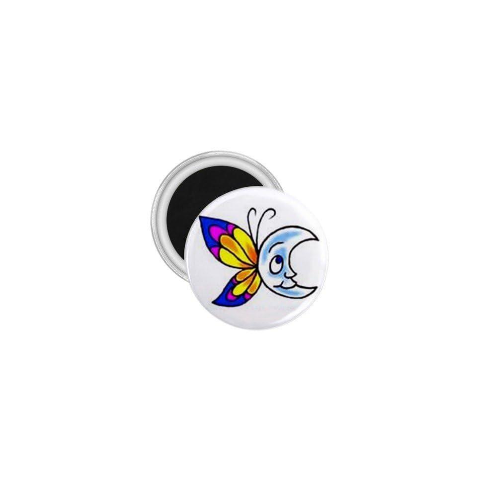 Tattoo Butterfly Moon Art Fridge Souvenir Magnet 2.25