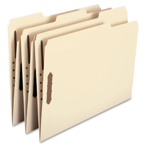 Smead Fastener Folders (Smead 100% Recycled Fastener File Folder, 2 Fasteners, Reinforced 1/3-Cut Tab, Letter Size, Manila, 50 Count)