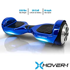 The Hover-1 ultra hover board provides a convenient, stylish, and exciting form of transportation. The two driver motors can be controlled independently or w/ both feet for easy turns and smooth braking. The Hover-1 ultra hover board includes...