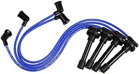 Fits certain Acura and Honda and other Makes Premium Spark Plug Wire Set Blue