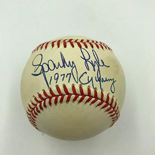 Cy Young Award - Autographed Sparky Lyle Baseball - 1977 Cy Young Award American League - Autographed Baseballs