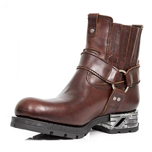 New Rock Boots M.mr043-c1 Urban Biker Hardrock Herren Stiefelette Braun