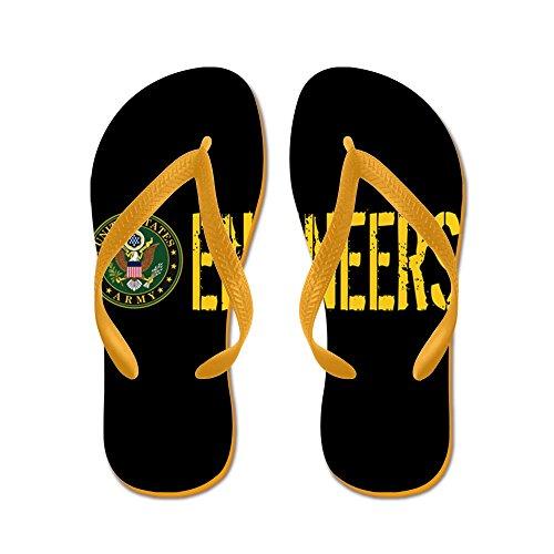 CafePress U.S. Army: Engineers - Flip Flops, Funny Thong Sandals, Beach Sandals Orange