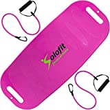 Solofit Fitness Balance Board with Resistance Bands, Pink