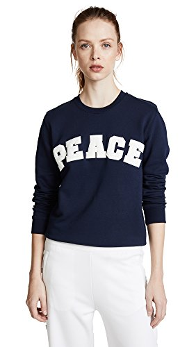 Tory Sport Women's Letterman Crew Sweater, Tory Navy, Medium by Tory Sport