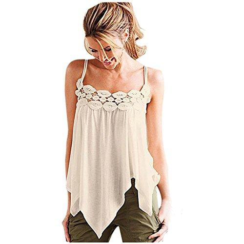 Lisingtool Women's Loose Sleeveless Casual Tank Top T-Shirt Blouse (Small)