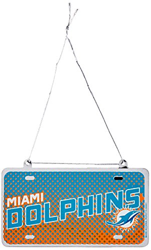 NFL Dolphins License plate Ornament